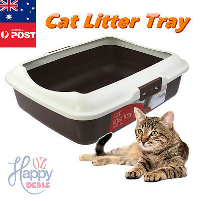 New Cat Pet Toilet Litter Tray Portable Hooded House Handle Scoop Box