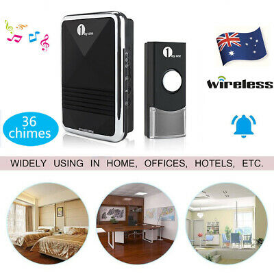 240V Au Plug-In Wireless Motion Sensor Detector Bell Chime Alert Alarm Doorbell