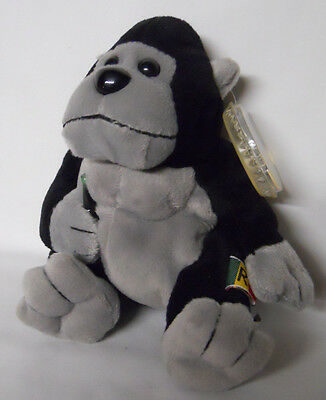 1999 Coca-Cola Rwanda Rilly the Gorilla Mini Bean Bag-Beanie