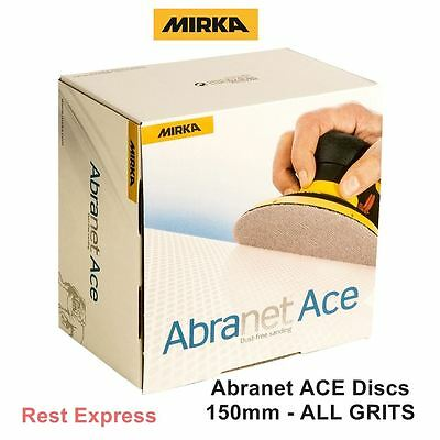 Mirka Abranet ACE Sanding Discs 150mm (50 Discs) ALL GRITS AVAILABLE P80 - P1000