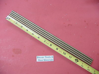 """4 Pieces of 1/4"""" C360 BRASS SOLID ROUND ROD 14"""" long .250"""" Lathe Bar Stock"""