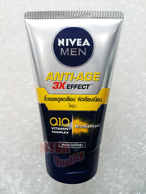 Nivea For Men Anti-Aging 10in1 3D Wrinkle Repair Q10 Facial Cleanser Foam 100 g