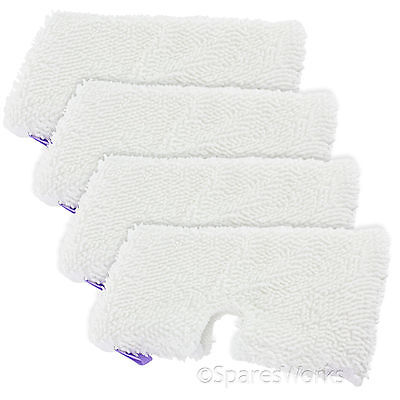 4 x Microfibre Pad Covers for Shark S2901 S3501 S3502 S3601 S3701 Steam Cleaner