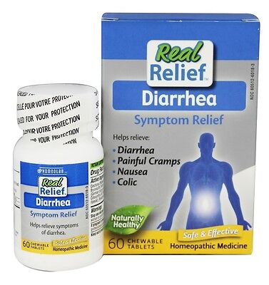 Homeolab USA - Real Relief Diarrhea - 60 Chewable Tablets