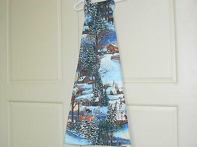 100% Cotton Lined Holiday Apron Of Holiday - A Winter Scene