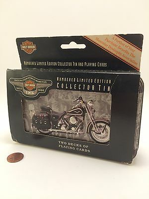 Harley Davidson Cards Numbered Limited Edition Collectors Tin SEALED! NOS!