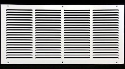 """24"""" x 12"""" RETURN GRILLE - Easy Air FLow - Flat Stamped Face [White] New"""