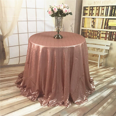 72'' Round Sequin Tablecloth Wedding Cake Tablecloth Blush
