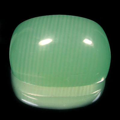 111.10 Cts Eye-catching Natural BIG Green Color Cushion Shape Calcite Gemstone