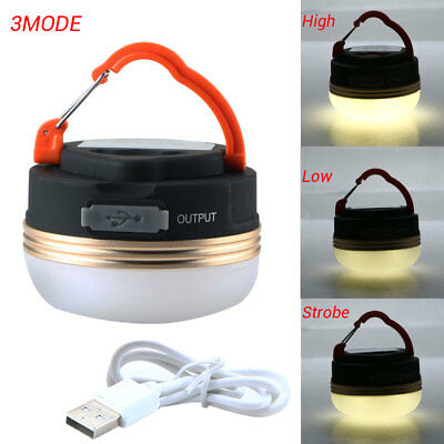 3W CREE LED USB Rechargeable Camping Outdoor Light Lantern Tent Lamp 6 hour 66