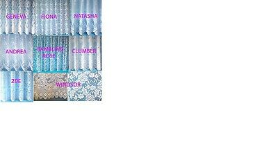 Heavy Jacquard Lace Net Curtains Thick Design Detailed Pattern cheap yard price
