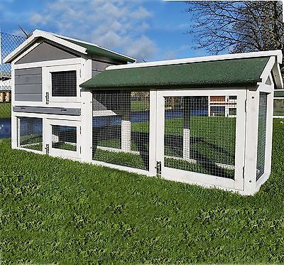 Large Rabbit Hutch Guinea Pig Hutches Run Large Tier Double Decker Cage