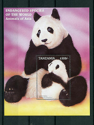 Tanzania 1997 MNH Endangered Species World Animals of Asia 1v S/S Giant Pandas