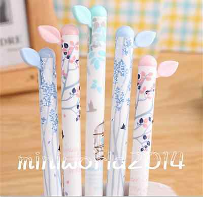 """6PCS""""Beautiful Garden"""" Retractable Ball Point Pens-0.5mm,Blue Ink Free Shipping"""