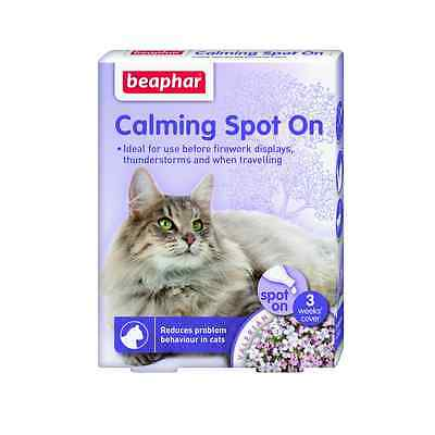 Beaphar Calming Spot On Drops For Cats Helps To Calm & Soothe Cats Of All Ages