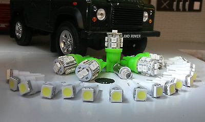 Land Rover Defender 90/110 TDI Dash Speedo Clock & ALL warning lights Set Green