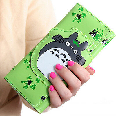 Anime Totoro Magnetic Buckle Zipper Cartoon Wallet Coin Purse Child Clutch Bags