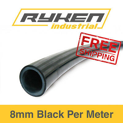 8mm Hose Flexible - Nylon - Black / Tube - Pneumatic Air Line / Per Meter
