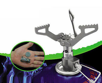 Titanium Alloy Camping Stove Gas Burner Camping Hiking Picnic Cookout Travel