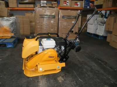 Heavy duty 6.5hp petrol compactor wacker plate with water tank 84kg C80T