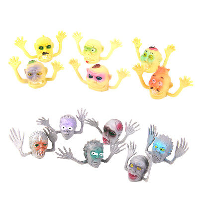 12 Zombie Monster Finger Puppets Halloween Kids Loot Goody Party Bag Fillers