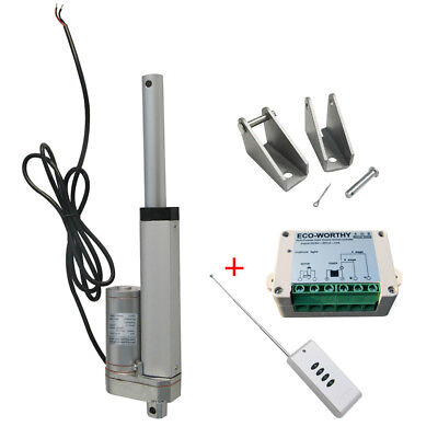 "4"" DC12V 1500N Linear Actuator Motor W/ Wireless Remote Control Kit for Car Door"