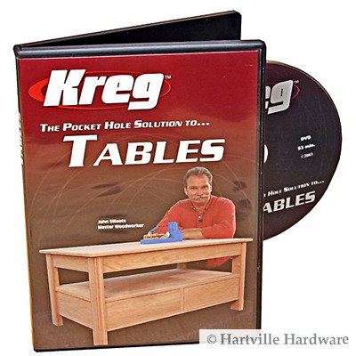 Kreg V05-DVD Pocket Hole Joinery DVD, Building Tables