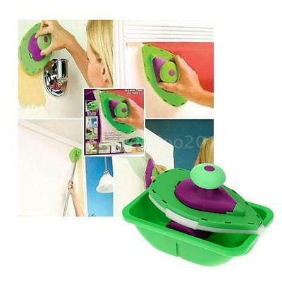 Paint Roller and Tray Set Painting Brush Point N Paint Household Plastic DQ39
