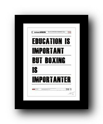 ❤ Boxing ❤  typography poster art signed limited edition print -  cool gift