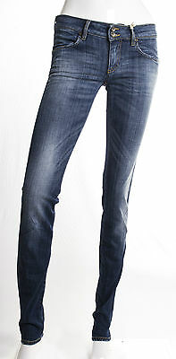 Jeans Gas Donna Sury Skinny Fit Stretch Invecchiato Scuro
