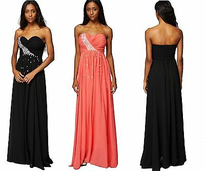 Womens Ladies Wedding Evening Formal Party Ball Gown Prom Bridesmaid Dress 10-14