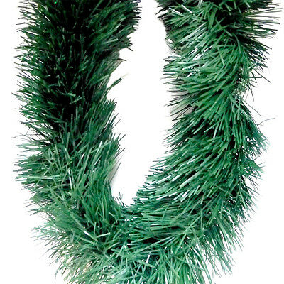 Thick Green Natural Deluxe Luxury Christmas Tree Tinsel Decoration