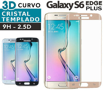 PROTECTOR CRISTAL TEMPLADO SAMSUNG GALAXY S6 EDGE + PLUS  full tempered glass