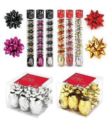 BOW AND RIBBON Christmas Gift Wrapping Present Decoration Metallic Contemporary