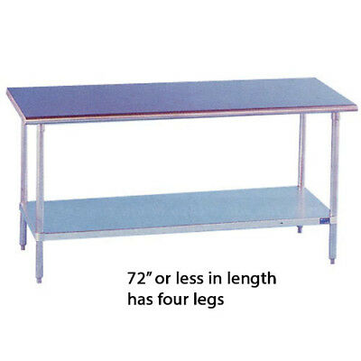 "Stainless Steel Work Table 14"" Wide Size 48"""