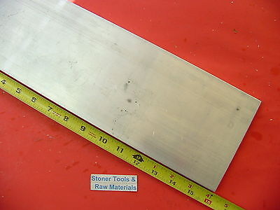 "1/2"" X 5"" ALUMINUM 6061 FLAT BAR 16"" long T6511 Solid .500"" Plate New Mill Stock"