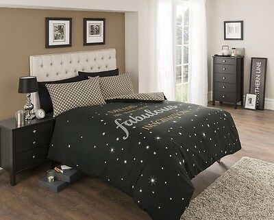 Fabulous Black Modern Design Duvet Bedding Quilt Cover Set-Single Double King