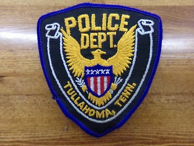 Vintage Police Dept Shoulder Patch Tullahoma Tennessee w/ Eagle & Shield Unused