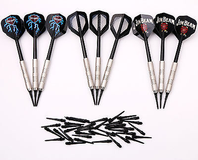 9 pcs of Soft Tip Darts for Electronic Dartboard 18 grams with 36 Extra tips NEW