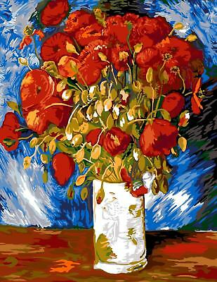 SEG de Paris Tapestry/Needlepoint Canvas – Poppies by Vicent Van Gogh