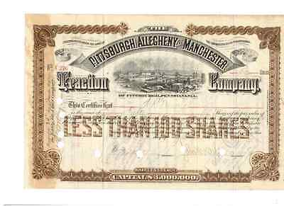 Pittsburgh Allegheny and Manchester Traction Company 1892