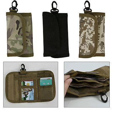 600D Nylon Military Tactical Molle Utility Accessory Vest Bag card Pouch Wallet