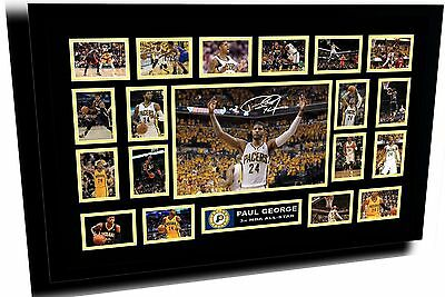 Paul George Indiana Pacers Signed Limited Edition Framed Memorabilia