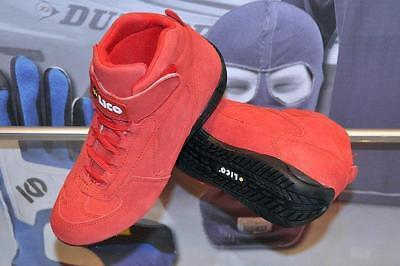 Suede Shoes Lico By Sparco Starter Low, size 36 Red Sport Boots Kart Rally SALE