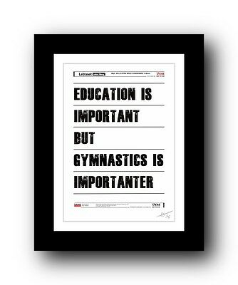 Gymnastics ❤ poster art signed limited edition print -cool unframed gift present