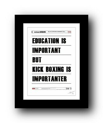 KICK BOXING  ❤ poster art signed limited edition print -cool gift present
