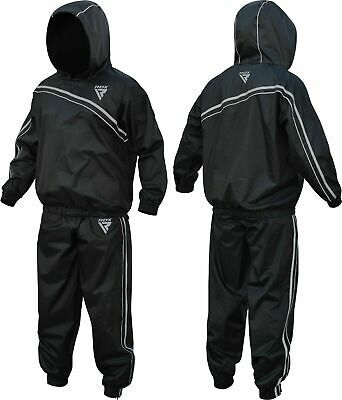 RDX Exercise Fat Heavy Duty Sauna Sweat Suit Weight loss Slimming Anti Rip Gym