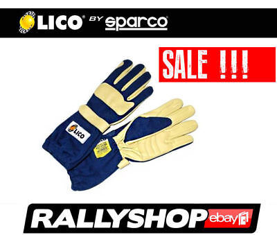 Lico By Sparco Concept Fire Gloves, Blue, size 13 XXL FREE WORLDWIDE DELIVERY!!!