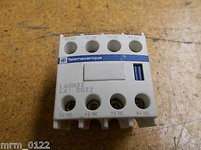 Telemecanique LADN22 Auxiliary Contact Block Used