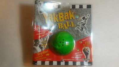 RARE Toy: Yak Bak Ball, 1997, NEW in Bent Sealed Package (Needs New Batteries)
